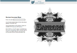 Sanborn Fire Insurance Maps homepage