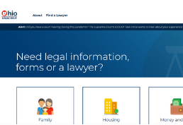 Ohio Legal Help homepage