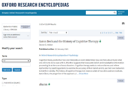 Oxford Research Encyclopedias homepage