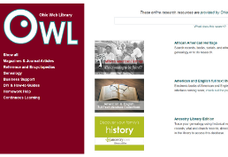 Ohio Web Library homepage