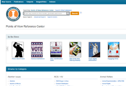 Points of View Reference Center Homepage