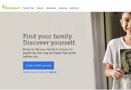 Family Search homepage