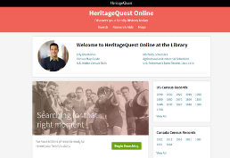 Heritage Quest homepage